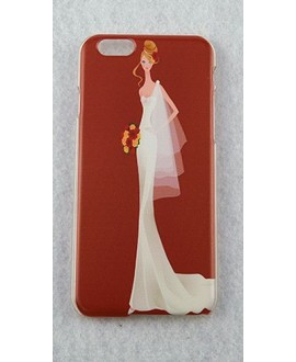 Beautiful Bride Case for iPhone 5 / 5s en 6 - red