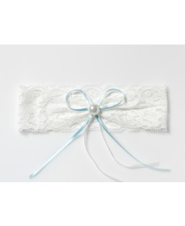 Lace Garter with pearl KB-40 Poirier