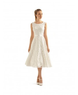 Short vintage bridal dress Aperta | Bianco Evento