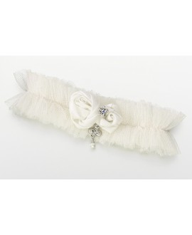 Tulle Jeweled Garter LG191