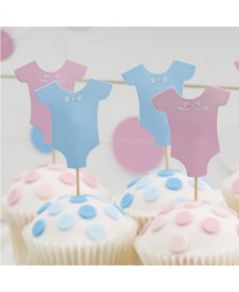 Baby Grow Cupcake Toppers | Little Lady or Mini Mister