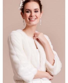 LILLY 09-3186-CR Bolero Faux Fur