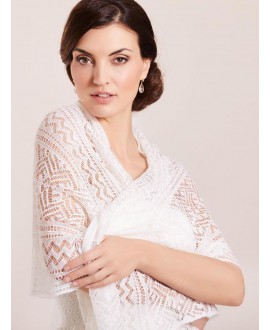 Lilly 09-582-CR-180 Knitted Shawl