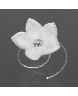 Curlies with flower and crystal