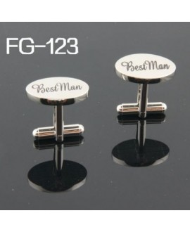 Silver wedding role cufflinks set Best Man
