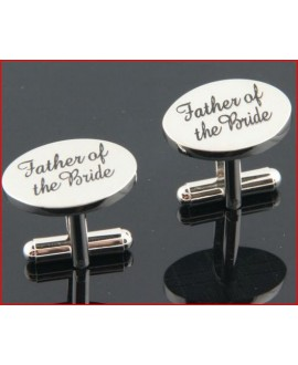 Silver wedding role cufflinks set father of the bride