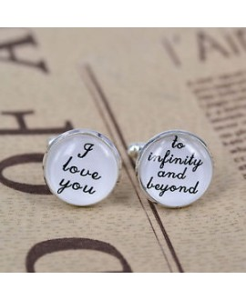 I love you - to infinity and beyond - cufflinks