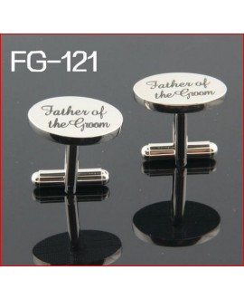 Silver wedding role cufflinks set father of the groom
