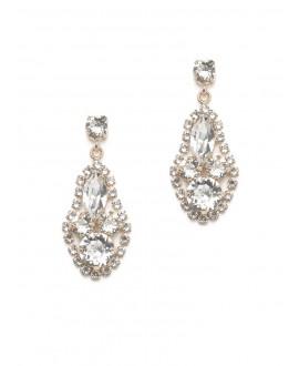 Scarlett | Bridal Earrings - Abrazi O6-RND-SKT Rose