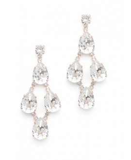 Abrazi Bridal Earrings O7-OVL4 Rose
