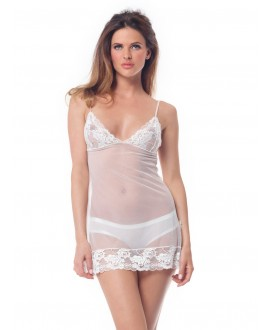 Nightdress with lace PA 1001 Poirier