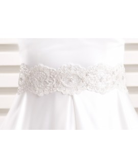 Satin bridal belt BBCPA3