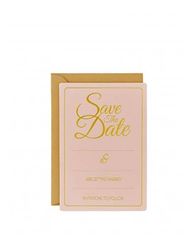 Gold Foiled Save The Date Cards - Pastel Perfection