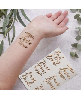 Rose Gold Temporary Wedding Tattoos - Beautiful Botanics