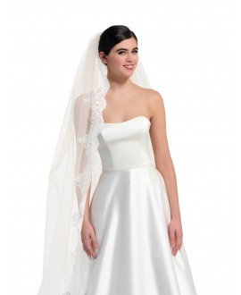 Veil with lace S360-350/1/MED | Poirier