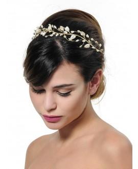 Poirier BB-657 Bridal Headband Gold