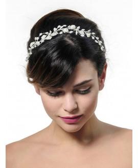 Poirier BB-657 Bridal Headband Silver