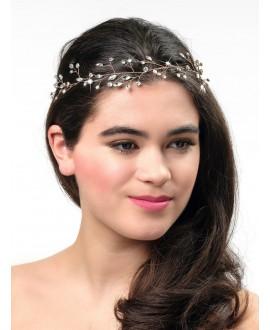Poirier BB-658 Bridal Headband Rose