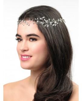 Poirier BB-658 Bridal Headband Silver