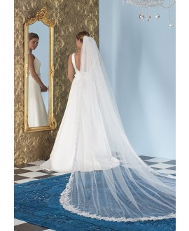 Veil with lace S142-350/1/MED| Poirier
