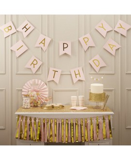 Pink Happy Birthday Bunting | Pastel Perfection