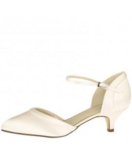 Rainbow Club Wedding Shoes Brianna Ivory Satin