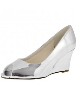 Rainbow Club Wedding Shoes Channa Silver Mirror