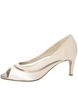 Rainbow Club Wedding Shoes Cressida Ivory Satin