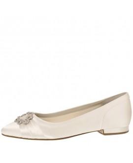 Rainbow Club Wedding Shoes Dulcie Ivory Satin