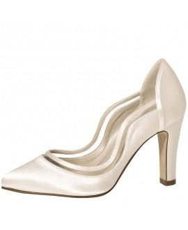 Rainbow Club Wedding Shoes Farrah Ivory Satin
