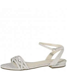 Rainbow Club Wedding Shoe Faye-Silver Metallic