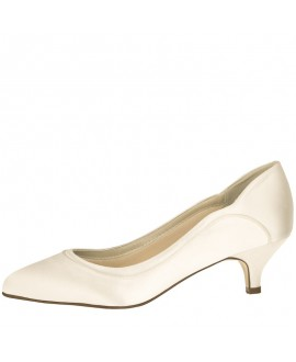 Rainbow Club Wedding Shoes Hollie Ivory Satin