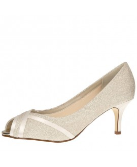Rainbow Club Wedding Shoes Margie Ivory Satin