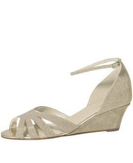 Rainbow Club Wedding Shoes Michelle Gold Metallic