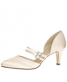 Rainbow Club Wedding Shoes Misty Ivory Satin