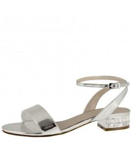 Rainbow Club Wedding Shoes Whitny Silver Mirror