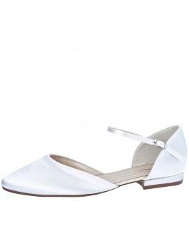 Rainbow Club Wedding Shoes Cameron Pure White Satin