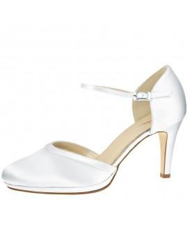 Rainbow Club Wedding Shoes Joni Pure White Satin
