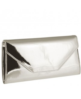 Rainbow Club Envelope Clutch Saskia Silver-Mirror