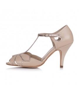 Rachel Simpson Wedding Shoes Mimosa Nude Rose Gold