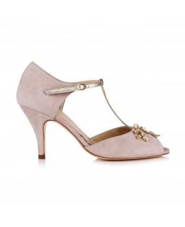 Rachel Simpson Wedding Shoes Amalia Powder Pink