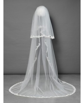 Poirier Veil with lace S100-280/2/MED