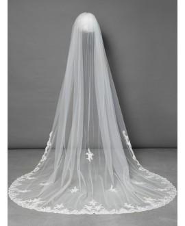 Veil with Italian lace S115-300/1/MED | Poirier