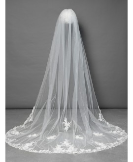Poirier Veil with luxury floral decoration S117-300/1/MED