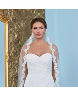 Veil with lace S145-280/1/SOFT| Poirier