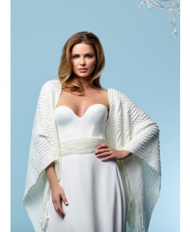 Knitted Bridal Stole S162 Poirier