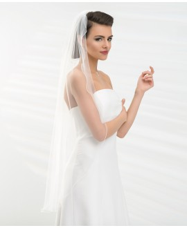 Veil with corded edge S191 | Bianco Evento