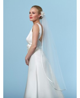 Veil with satin ribbon edge S20-120/1/SOFT | Poirier
