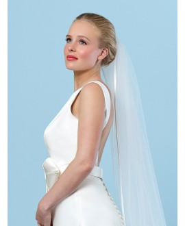Veil with satin ribbon edge S20-210/1/SOFT | Poirier