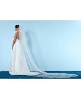 Veil S44 250cm ivory 1 layer | Poirier
